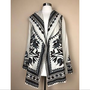 JOHHNY WAS EMBROIDERED HOODIE SILK BLEND JACKET